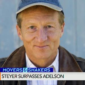 Steyer Tops Adelson in Superpac Political Donations