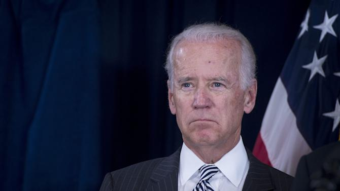 US Vice President Joe Biden, pictured at the Department of Veterans Affairs in Washington, DC, on June 30, 2014