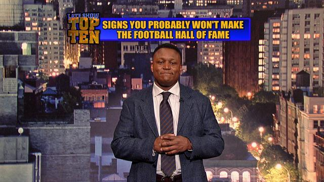 David Letterman - Barry Sanders Top Ten