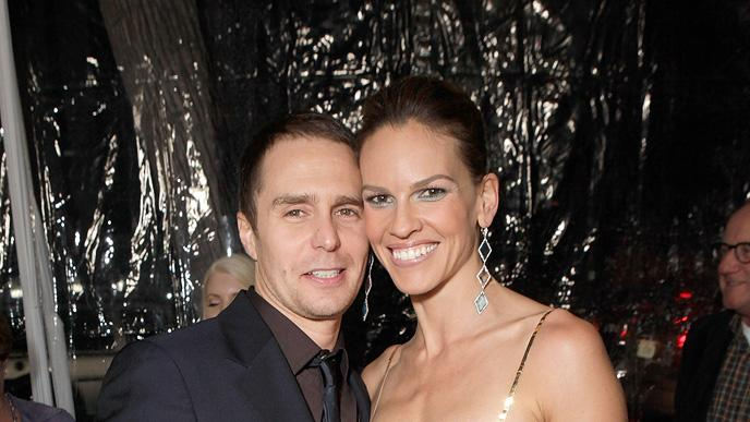 Conviction LA Premiere 2010 Sam Rockwell Hilary Swank