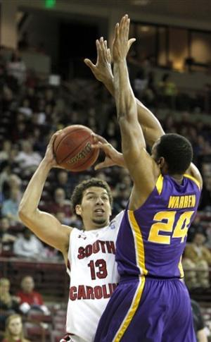 Hamilton leads LSU past South Carolina 68-58
