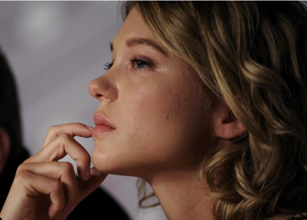 "Cast member Lea Seydoux attends a news conference for the film ""La Vie D'Adele"" during the 66th Cannes Film Festival"