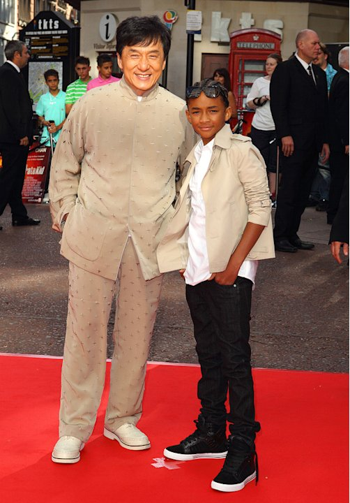 The Karate Kid UK Premiere 2010 Jackie Chan Jaden Smith