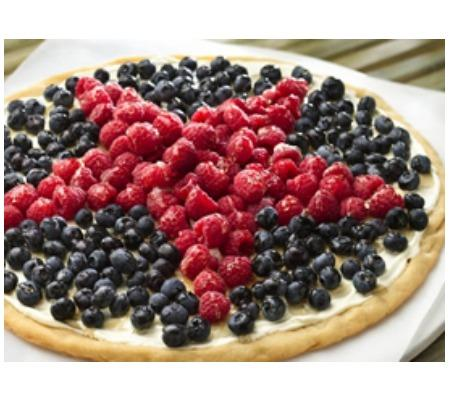 Patriotic Cookie Pizza
