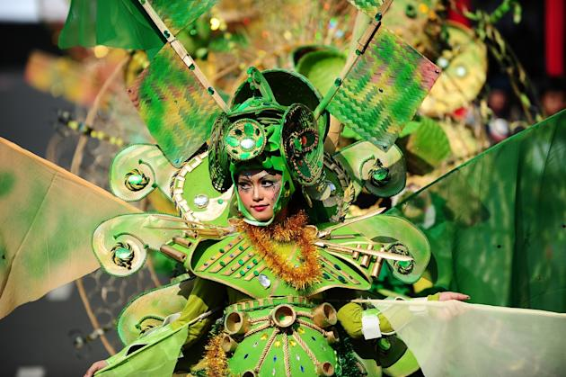 Revellers Gather For Jember Fashion Carnival