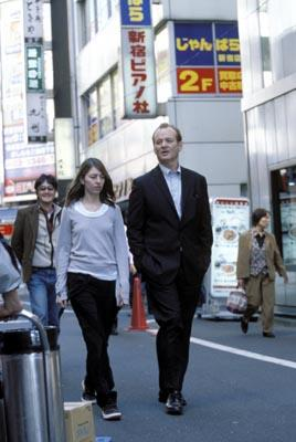 Director Sofia Coppola and Bill Murray on the set of Focus' Lost in Translation