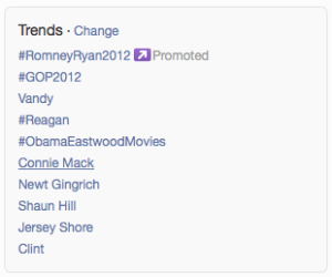 Romney's Campaign is First to Buy a Twitter Trending Topic