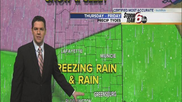 Wednesday Forecast: Freezing rain will turn into snow