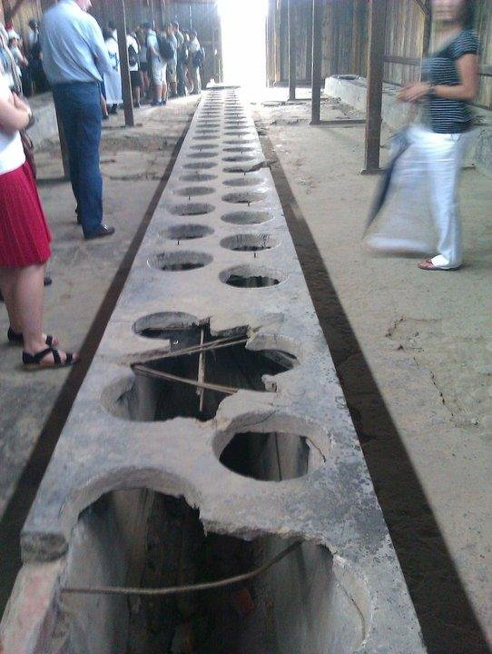 Toilets at Birkenau