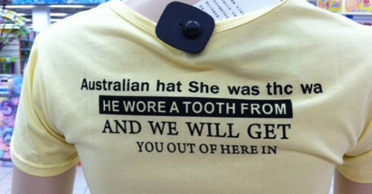 19+ Asian T-Shirts That Got Lost In Translation