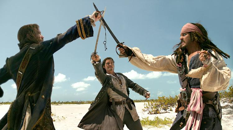 Pirates of the Caribbean Dead Man's Chest 2006 Walt Disney Pictures Johnny Depp Orlando Bloom