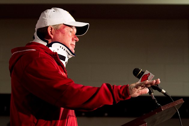 Bobby Petrino was fired as Arkansas' football coach after a motorcycle accident involving his 25-year-old mistress, who was also a university employee. (Gareth Patterson/AP Photo)