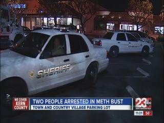Two People Arrested in Big Meth Bust