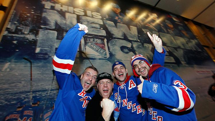 NHL's New York Rangers fans