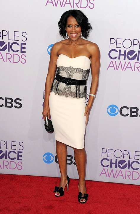 BEST: Regina King.  Elegant in a white and black lace cocktail dress, the &quot;Southland&quot; star is on hand to present an award to her friend, Sandra