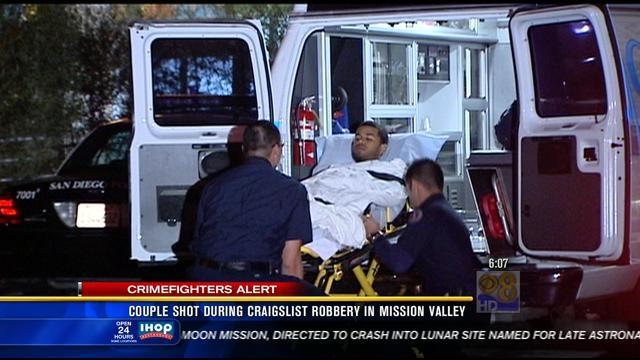 Couple shot during Craigslist robbery in Mission Valley