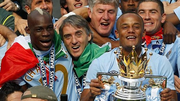 2011-2012 Premier League Manchester City Mancini Balotelli