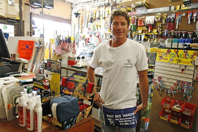 "Ty Pennington poses as a hardware salesperson on ""I Get That A Lot."""