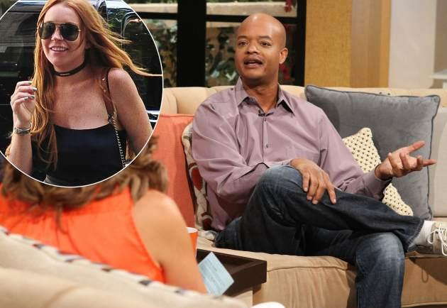 Todd Bridges stops by Access Hollywood Live on August 14, 2013 / inset: Lindsay Lohan -- Access Hollywood
