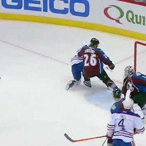 Ryan Nugent-Hopkins scores off pass from Hall