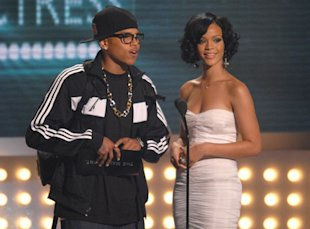 Rihanna and Chris Brown together at an awards show in 2007. (Michael Caulfield/WireImage for BET Network)