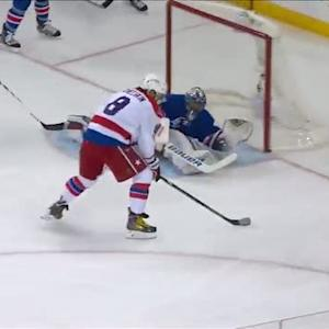 Lundqvist lays out to turn away Ovechkin