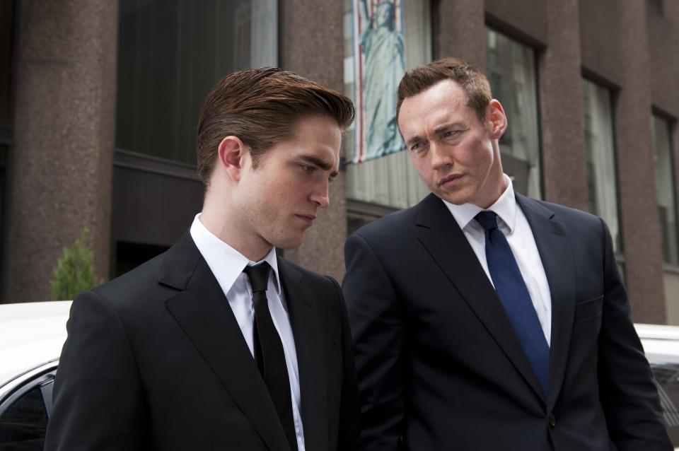 "This film image released by Entertainment One shows Robert Pattinson, left, and Kevin Durand in a scene from ""Cosmopolis."" (AP Photo/Entertainment One, Caitlin Cronenberg)"