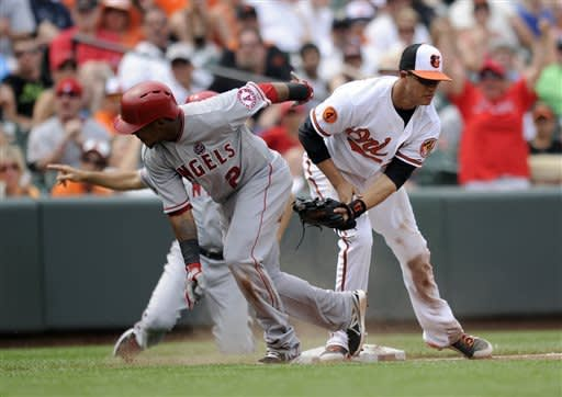 Angels beat Orioles 9-5 to end 4-game skid