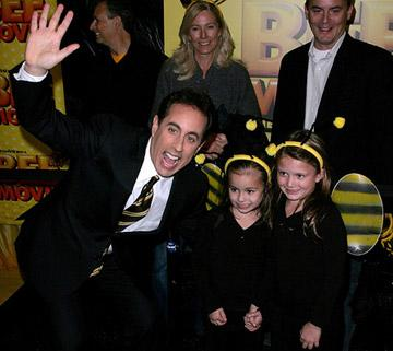 Jerry Seinfeld at the New York City premiere of DreamWorks Pictures' Bee Movie