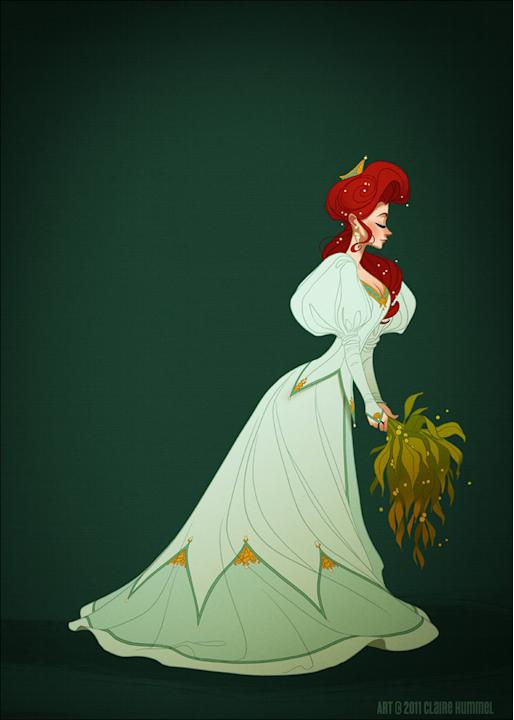 Ariel in Wedding Gown (The Little Mermaid)