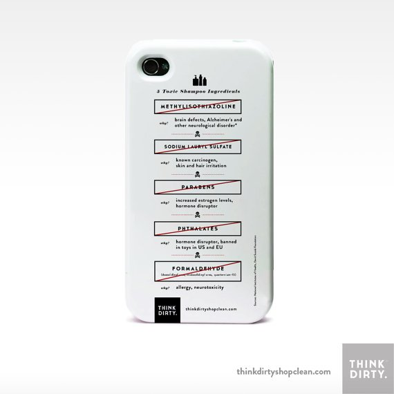 Think Dirty Toxic Shampoo Ingredients iPhone Case