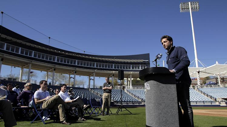 "FILE - In this Feb. 24, 2012 file photo, Milwaukee Brewers' Ryan Braun, right, speaks during a news conference at spring training baseball, in Phoenix. Braun stood on a spring training field and proclaimed he was innocent of using banned testosterone. ""I would bet my life,"" he said back then, ""that this substance never entered my body at any point."" Seventeen months later, he accepted a 65-game suspension from baseball and admitted, ""I am not perfect. (AP Photo/Jae C. Hong, File)"
