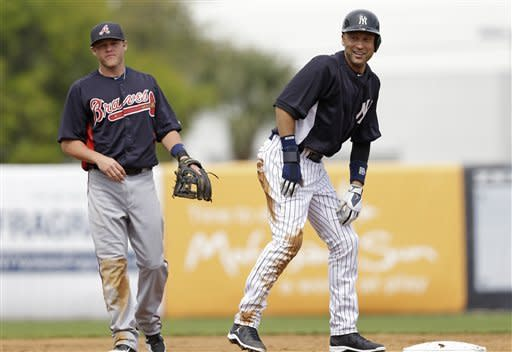 Jeter, Rivera make spring training debuts