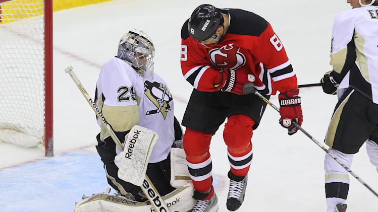 NHL: Pittsburgh Penguins at New Jersey Devils