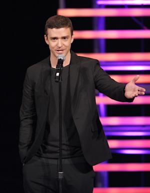 In this handout photo provided by Environmental Media Association, Justin Timberlake is seen at the 21st Annual Environmental Media Awards on Saturday, Oct. 15, 2011, in Burbank, Calif. (AP Photo/Vince Bucci - Environmental Media Association)