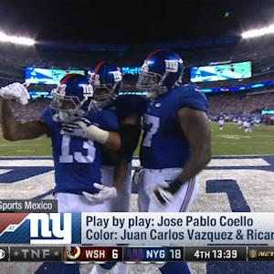 Fox Sports Mexico broadcasters call Odell Beckham TD