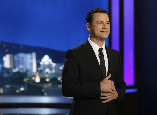 Jimmy Kimmel is in hot water with critics. (Randy Holmes/Getty Images)