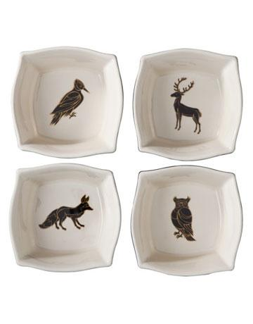 Patch Animal Print Dessert Bowls