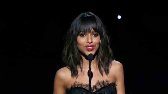 IMAGE DISTRIBUTED FOR THE PRODUCERS GUILD - Kerry Washington speaks onstage at the 24th Annual Producers Guild (PGA) Awards at the Beverly Hilton Hotel on Saturday Jan. 26, 2013, in Beverly Hills, Calif. (Photo by Todd Williamson/Invision for The Producers Guild/AP Images)