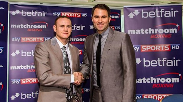 George Groves signs with Eddie Hearn's Matchroom Boxing (photo: Neill Hamersley)