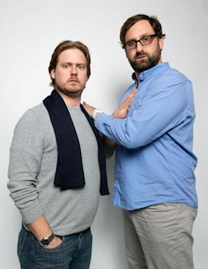 "Writer/directors Tim Heidecker, left, and Eric Wareheim, from the film ""Tim and Eric's Billion Dollar Movie,"" pose for a portrait during the 2012 Sundance Film Festival on Saturday, Jan. 21, 2012, in Park City, Utah. (AP Photo/Victoria Will)"