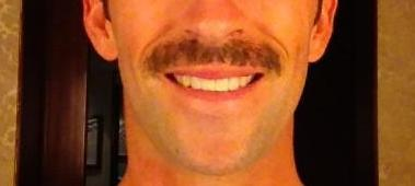 – If you peel back this English cricketer's tache you may be reduced to tears.