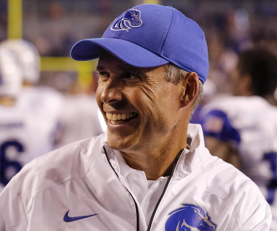 Boise State's Petersen poised to coach 100th game