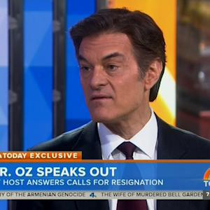Dr. Oz Responds to Criticism From Columbia Colleagues