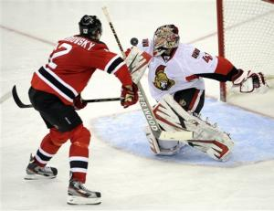 Sens' Anderson sends Devils to 9th straight loss