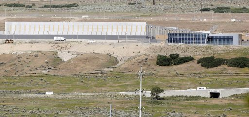 A new National Security Agency (NSA) data gathering facility is seen under construction in Bluffdale