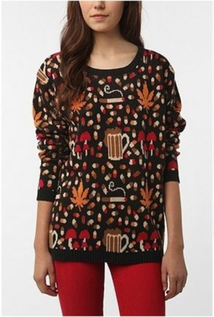 Urban Outfitters is selling a holiday sweater adorned with drugs and booze.