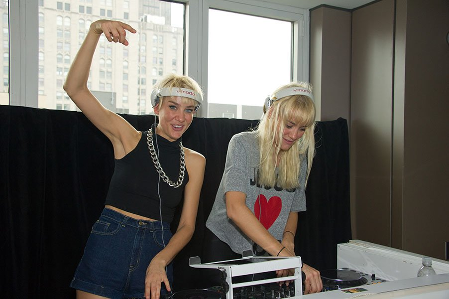 Liv and Mim performing at the 2011 VitaminWater Zero Gansevoort Summer Series