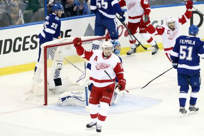 Red Wings vs. Lightning Game 1 results: Detroit takes down Tampa Bay, 3-2