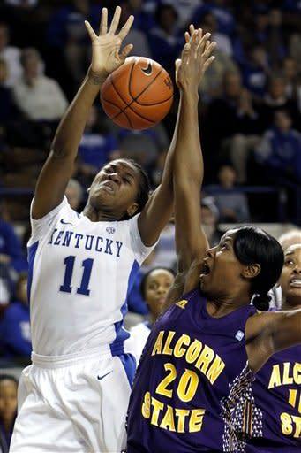 Kentucky women set record with win over Alcorn St